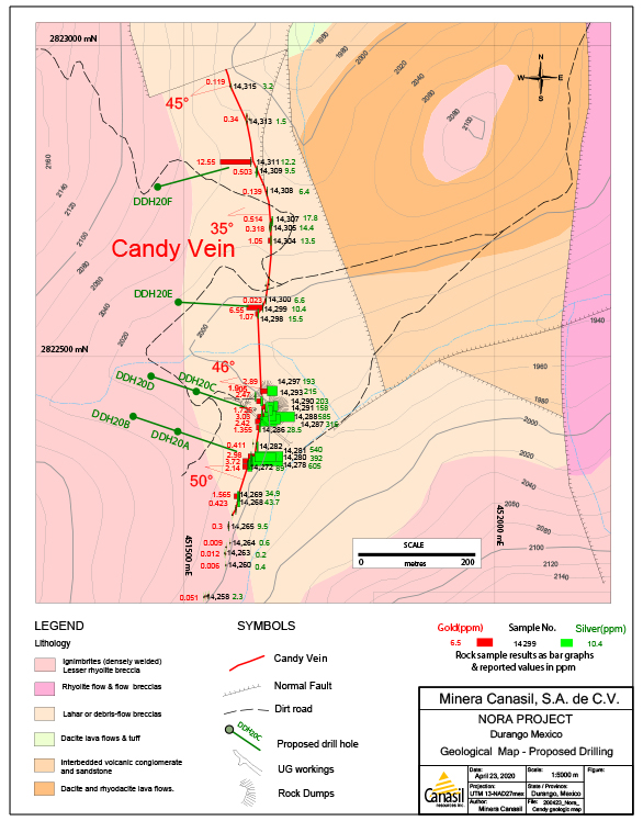 Candy Vein Drill Plan Map